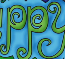 Happy Hippy Sticker