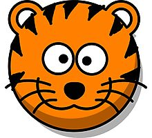 Cute Tiger Face illustration Photographic Print