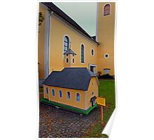 The Mini-me church of Neusserling   architectural photography Poster