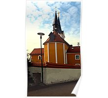 The village church of Herzogsdorf II   architectural photography Poster