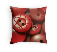 Button Button Who's Got The Button Throw Pillow