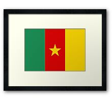flag of cameroon Framed Print