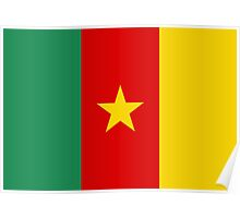 flag of cameroon Poster