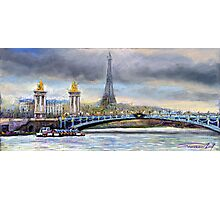 Paris Pont Alexandre III Photographic Print