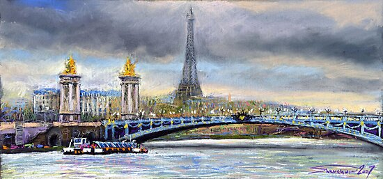 Paris Pont Alexandre III by Yuriy Shevchuk