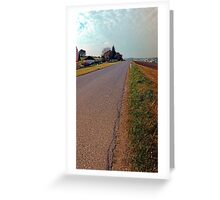 Country road, cloudy sky, fresh colors | landscape photography Greeting Card