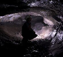 Black limestone phreatic passage in Carlswark Cavern, Derbyshire by ferret