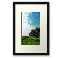Cornfields, trees and lots of clouds | landscape photography Framed Print