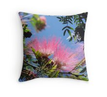 Bottlebrush Beauty Throw Pillow