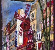 Paris Mulen Rouge by Yuriy Shevchuk