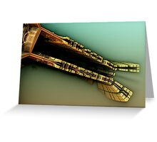 middle ground fractal Greeting Card