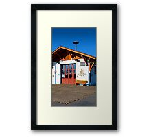The new firestation of Neureichenau | architectural photography Framed Print