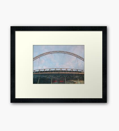 picture taken from top of wembley Framed Print