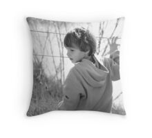 Boy on a wire Throw Pillow
