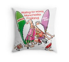 Waiting for Waves Throw Pillow