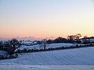 Snowfield Sunset by Ludwig Wagner