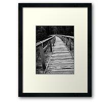 Wooden Trestle Framed Print