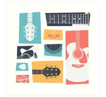 Guitar Collage Art Print