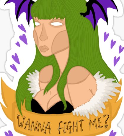 Wanna fight me? Sticker