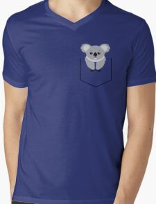 Koala In Shirt Pocket Mens V-Neck T-Shirt