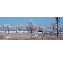 Winter in Farm Country Photographic Print