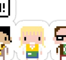 The Big Bang Theory Pixel Characters Sticker