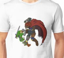 Link Vs Ganandorf Ocarina of Time colored Unisex T-Shirt