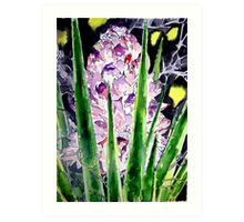 yucca flower watercolor painting art print Art Print