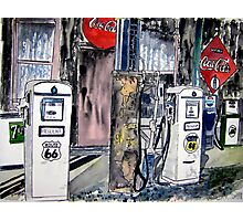 route 66 gas station Photographic Print