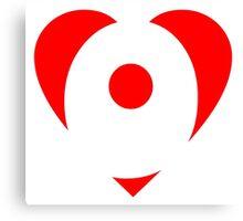 I love O - Heart O - Heart with letter O Canvas Print