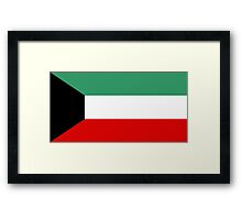 flag of Kuwait Framed Print