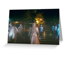 Memorial at night Greeting Card
