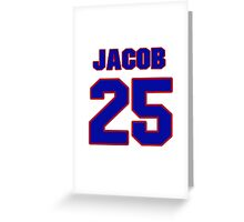 National Hockey player Jacob Markstrom jersey 25 Greeting Card