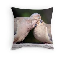 Dove affection  Throw Pillow