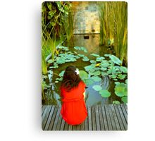 The Girl by the pond Canvas Print