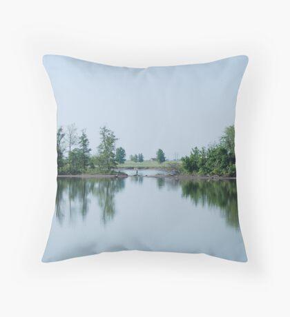 Landscape Reflection Throw Pillow