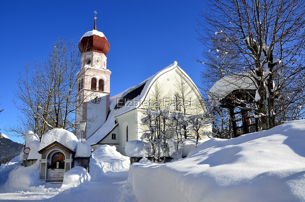 Church in Austrian Tyrol by Elzbieta Fazel