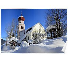 Church in Austrian Tyrol Poster