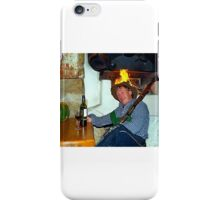 Drunk man with a rifle iPhone Case/Skin