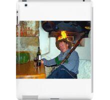 Drunk man with a rifle iPad Case/Skin