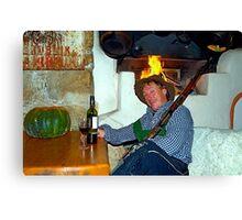 Drunk man with a rifle Canvas Print