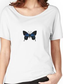 Tribally Blue Butterfly Women's Relaxed Fit T-Shirt