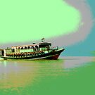 Engine Boat at Jamuna by tarique