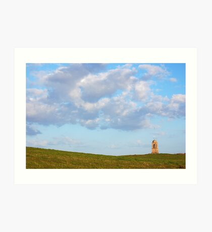 Clouds over Downhill State Art Print