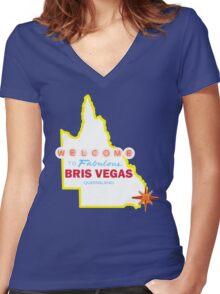 Bris Vegas Women's Fitted V-Neck T-Shirt