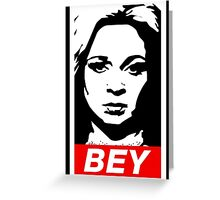 Queen Bey Greeting Card