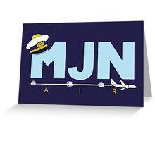 MJN Air  Greeting Card