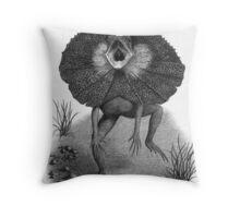 The Best Defense - Frilled Lizard Throw Pillow