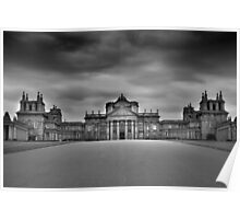 blenheim palace black and white Poster