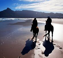 Horse Riding on Noordhoek Beach by Ludwig Wagner